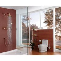 Contemporary brass golden in-wall bathroom concealed faucet thumbnail image