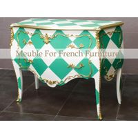 Bright French Style Chest of drawers wirh Original Brass.
