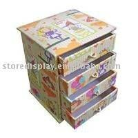 cardboard furniture, customized carton with drawer