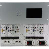HD video conferencing Touch modular matrix switcher manages any type of signals