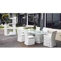 Poly Rattan Dining and Coffee Set
