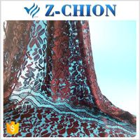 New designs shaoxing textile nylon african embroidery cord lace fabric
