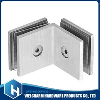 Glass Square Partition Hinge 90 Degree Two Sides