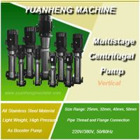multistage centrifugal water pump made of stainless steel