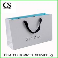Lamination custom printed paper carrier bag
