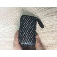 carbon fiber wallet geniune leather car key wallet