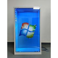Transparent Advertising Display Touch Screen Kiosk