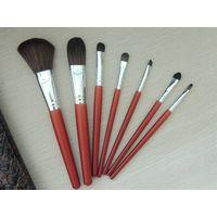 Hot Professional Goat Hair 7Pcs Makeup Brush Set Tools Cosmetic Make Up Brush Set