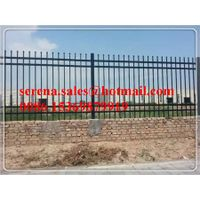 high quality powder coating ornamental steel security garden fence with anti climb top