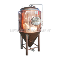 300L 500L hot selling copper beer fermentation tank for craft beer brewery equipment thumbnail image