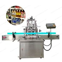 straight line automatic water glass water bottle liquid filling machine