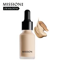 Matte foundation with glass foundation bottle