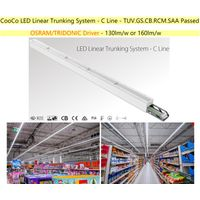 LED Linear Trunking system Low UGR for supermarket, retail store, office, factory and warehouse