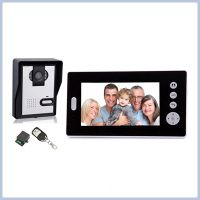 Hot Selling 7 Inch Dual monitor color video doorbell, Wireless door phone video intercom unlock syst