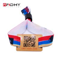 One Time Use Fabric RFID Wristband with PVC Tag thumbnail image
