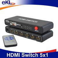 2014 New arrival! HDMI 5 IN 1 OUT switch with IR control up to 1080P