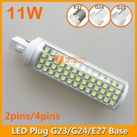 11W LED Plug Lamp G23/G24/E27 Round Shape