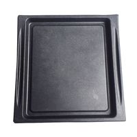 Black electronics paper packing trays molded pulp packaging