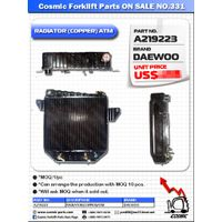 Cosmic Forklift Parts On Sale No.331-RADIATOR(COPPER)ATM