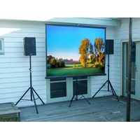 OEM Matte White Tripod Standing Screen Portable Projection Screen for Projector Outdoor indoor 100 i