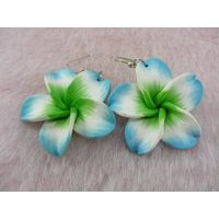 2011 polymer clay fashion flower drop earring thumbnail image