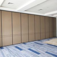 Melamine Board Segmented Aluminum Frame Foldable Partitions Restaurant Movable Walls