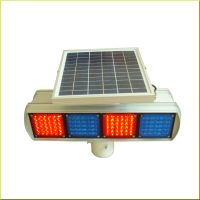 Solar LED Warning Traffic flashing Light Double Sides with 4 Moulds