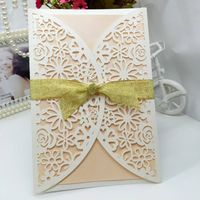 hollow pattern Wedding Invitation Card