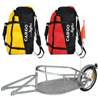 solo wheel cargo Bicycle Trailer with reflector for Bicycle Traveling