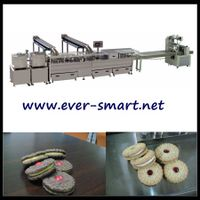Double Color Sandwiching Machine connect with Packaging Machine
