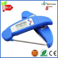 Instant read waterproof digital meat/food/bbq/grill thermometer with folding probe
