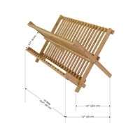BH002/Hot Sale Exquisite Easy-clean Anti-corrosion Foldaway Bamboo Dish Rack