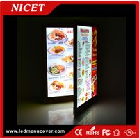 3 page 3 view menu book for restaurant led backlit menu