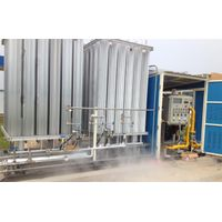 LNG filling without power skid-mounted devices
