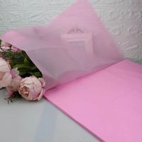 Logo printed A4 size colored tissue paper for gift wrapping