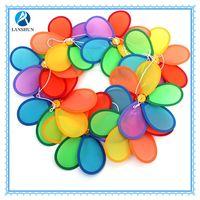 Whosale best price rainbow polyester 2 layer garden windmill