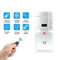 WAFU Wireless Smart Remote Lock, Invisible Security Door Lock, Anti-theft Lock with Keyless + 4 Keys thumbnail image