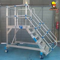 Super Quality Customized Steel Warehouse Rolling Ladder thumbnail image