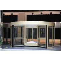 Commercial Four-wing Automatic Revolving Doors with Manual Mode