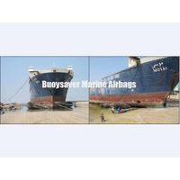 Ro-Ro Ship Drydocking by Marine Rubber Airbags in Dubai Shipyard