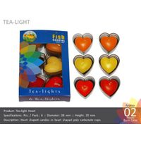 Tea Light Heart Candles