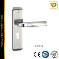 High Precision Zinc Alloy Casting Door Handles on Plate (7018-Z6102)