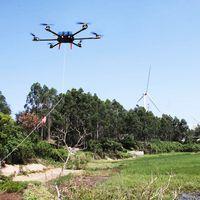 GPS uav drone hanging powerlines drone uav