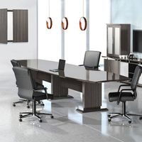 Modern Designer Conference Room Table, Office Meeting Boardroom, 10ft 12ft 14ft (10ft, Textured Drif thumbnail image