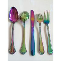 18/10 24pcs stainless steel cutlery with rainbow color