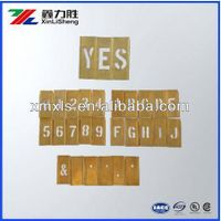 Recoverable Interlocking Letters and Numbers Brass Stencils thumbnail image