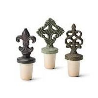 Wine Stoppers Bottle Stoppers Bar Accessories Made of Hand-painted Cast Iron and Synthetic Cork