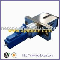 LC-SC hybrid fiber optic adapter