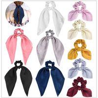 10Pcs Hair Scrunchies Satin Silk Elastic Hair Bands thumbnail image
