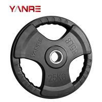 Gym Fitness Equipment Crossfit Rubber Coated Weight Lifting Bumper Plates Barbell Plate